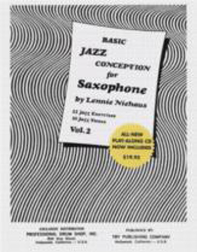 Niehaus Basic Jazz Conception 2 Saxophone Bk & Cd