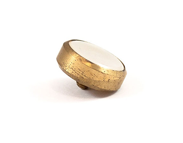 Finger Button - Large Brass with Pearl - B&H/Besson