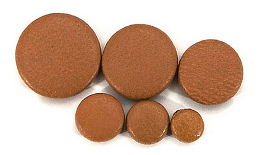 Thin Hard Felt Brown Leather - Plain Saxophone Pad - 12.5mm