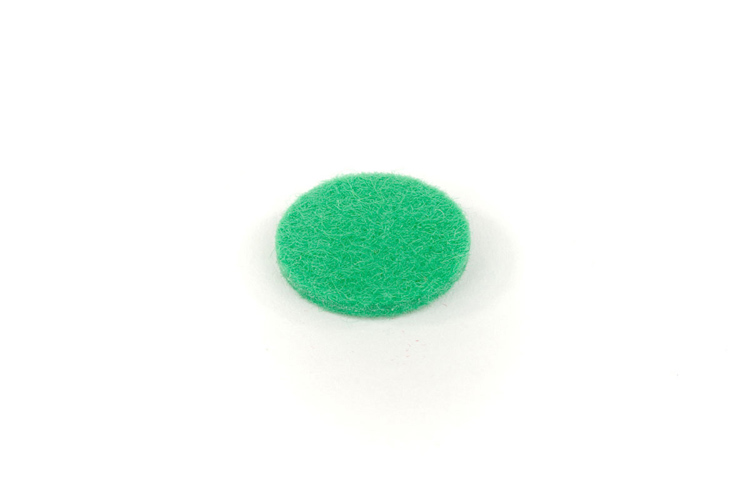 Felt Disc - Green - 17mmx2mm