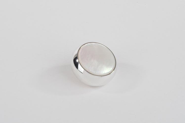 Finger Button Silver plated