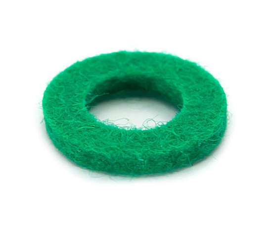 Felt Ring - Green- 18mmx2mmx10mm hole
