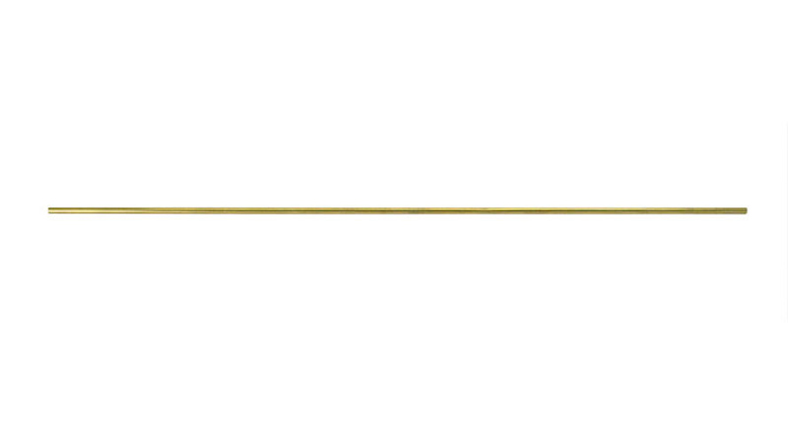 Solid Round Brass Rod - 6.4mm x 45.7cm