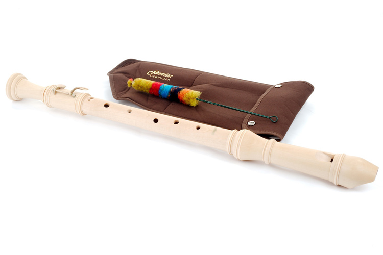 Schneider Tenor Wooden Recorder Baroque Model - Lacquered Maple