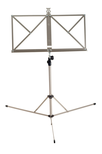 K&M 101 - 3 Section Lightweight - Nickel Coloured Music Stand