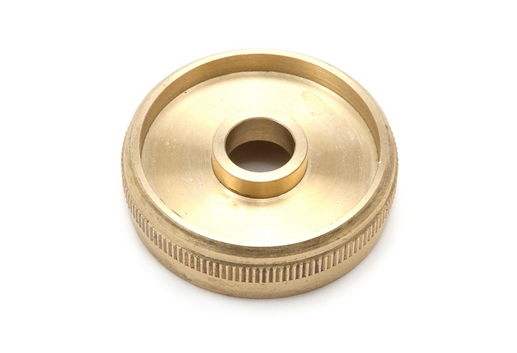 Top Cap - Besson 983 Eeb Tuba raw brass