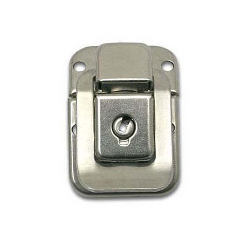 Latch with Lock - Nickel