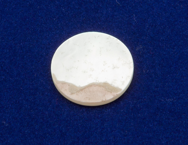 Pearl Touchpiece/ Finger pearl - Flat Top - 12.0mm dia.