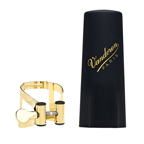 Vandoren Alto Sax Ligature and Cap  - MO Gold Plated