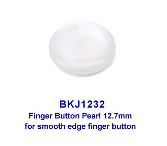 Finger Button Pearl 12.7mm - For smooth edge finger button