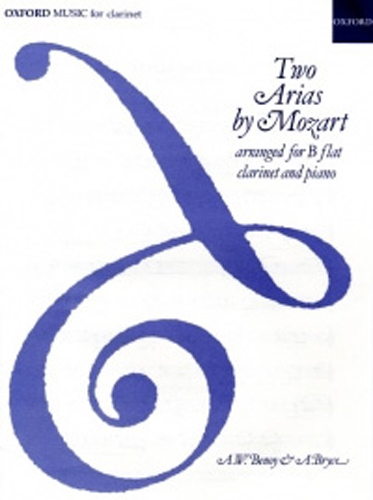 Mozart Two Arias Clarinet & Piano