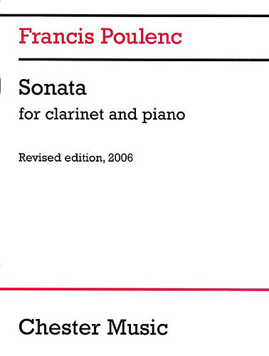 Poulenc Sonata Clarinet & Piano revised edition