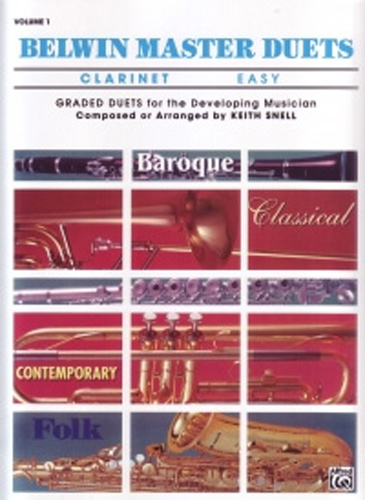 Belwin Master Duets Clarinet Easy Vol 1 Snell