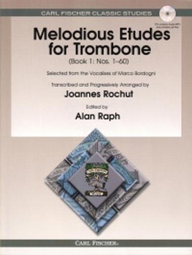 Melodious Etudes For Trombone Book 1 Rochut + Cd