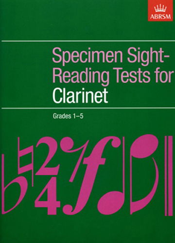 Specimen Sight Reading Clarinet Grades 1-5 Abrsm