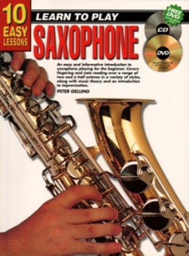 10 Easy Lessons Saxophone Book + Cd & Dvd