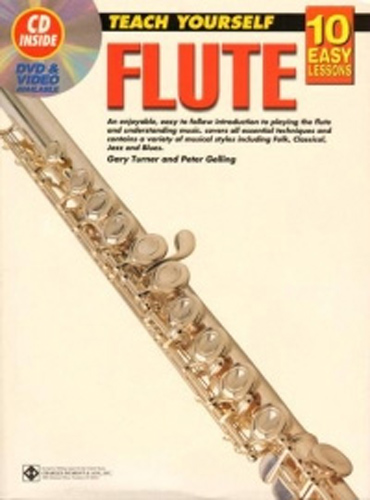 10 Easy Lessons Flute Book + Cd & Dvd