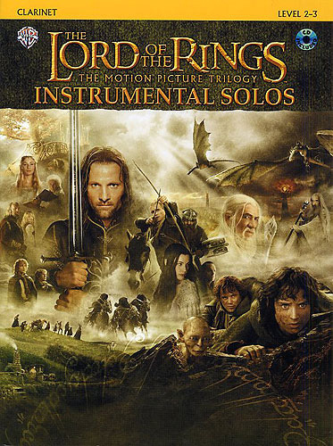 Lord Of The Rings Trilogy Solos Clarinet Book & Cd