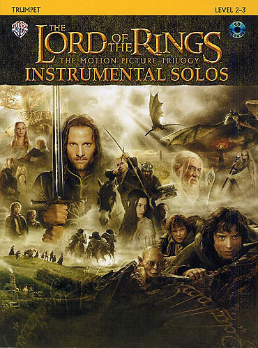 Lord Of The Rings Trilogy Solos Trumpet Book & Cd