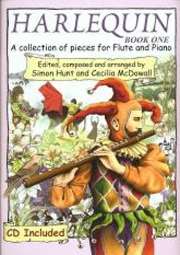 Harlequin Book 1 Hunt/McDowall Flute & Pf Bk & Cd