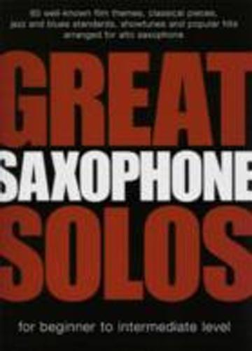 Great Saxophone Solos Alto Saxophone