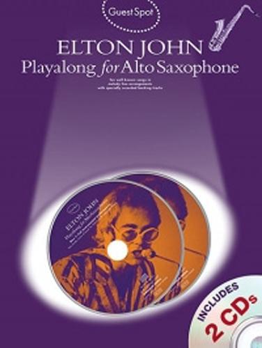 Guest Spot Elton John Alto Saxophone Book & Cd