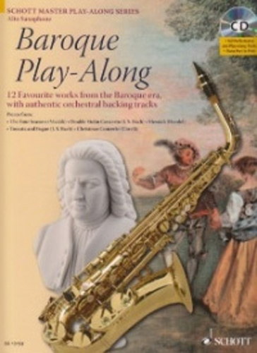 Baroque Play Along Alto Sax Book/Cd