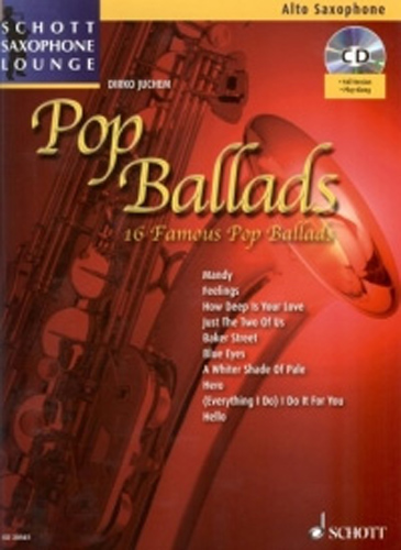 Pop Ballads Alto Book & Cd Saxophone Lounge