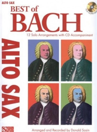 Bach Best Of Alto Sax Book & Cd