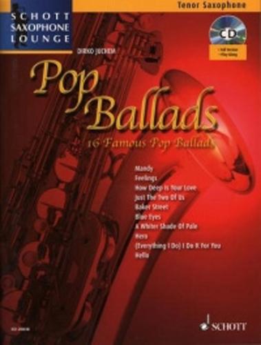 Pop Ballads Tenor Book & Cd Saxophone Lounge