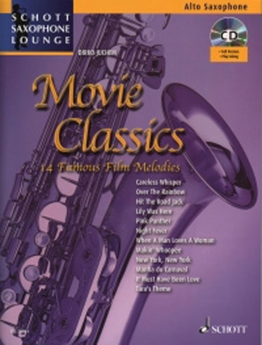 Movie Classics Alto Book & Cd Saxophone Lounge