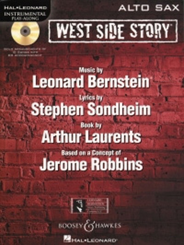 West Side Story Play Along Bernstein Alto Sax + Cd