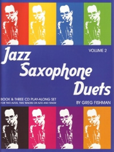 Jazz Saxophone Duets Fishman Vol 2 Book & 3 Cds
