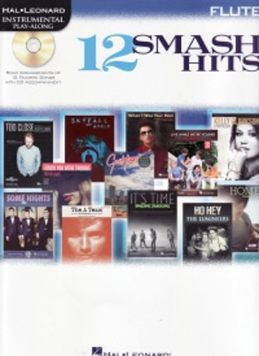 12 Smash Hits Instrumental Play Along Flute + Cd