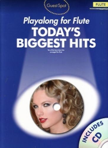 Guest Spot Todays Biggest Hits Flute Book & Cd