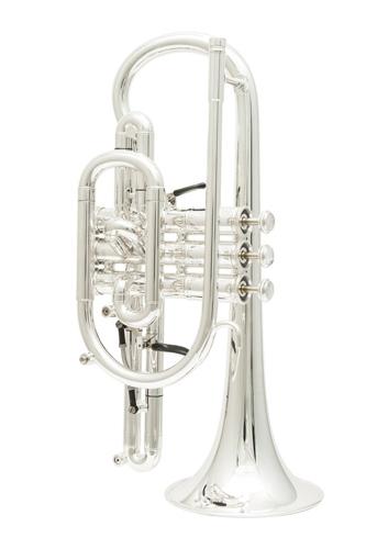 Getzen Custom 3850 - Silver Plated Amado Waterkey Cornet