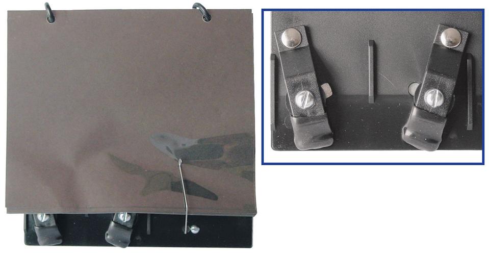 Trumpet Clamp on Lyre with Plastic Folio