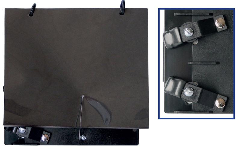 Trombone Clamp on Lyre with Plastic Folio
