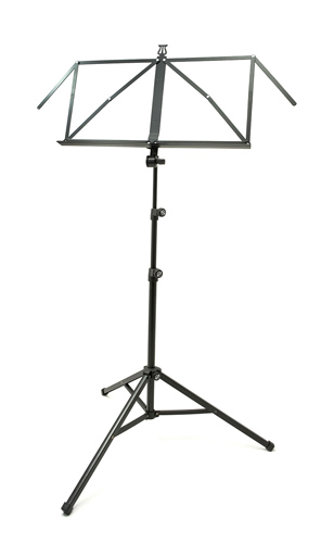 K&M Music Stand 3 Section Large Desk 10065 - Black