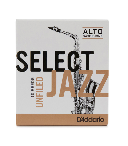 Select Jazz Alto Saxophone Reeds Unfiled