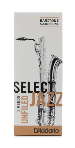 Select Jazz Baritone Saxophone Reeds Unfiled