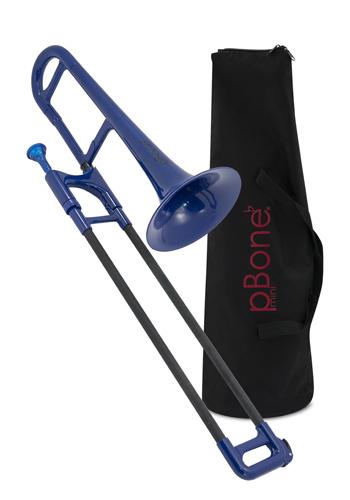 pBone Mini Plastic Trombone - Blue