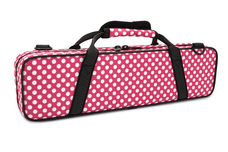 Beaumont Flute Case - Pink Polka Dot