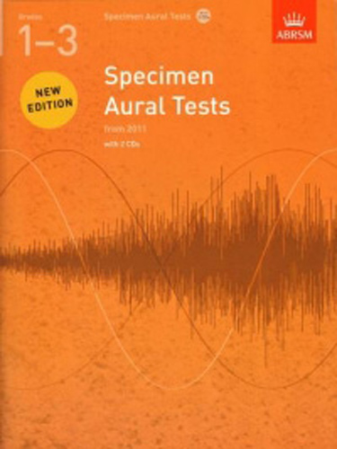 Specimen Aural Tests Revised 1-3 + Cds Abrsm