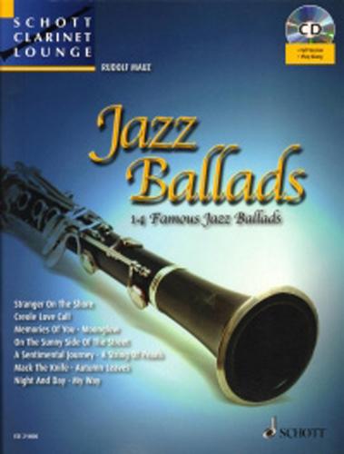 Jazz Ballads Book & Cd Schott Clarinet Lounge