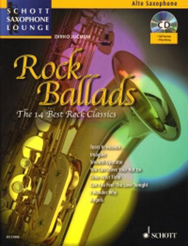 Rock Ballads Alto Book & Cd Saxophone Lounge