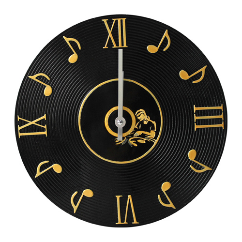 Wall Clock Lp Music Notes