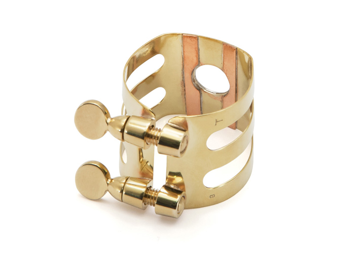 Wood Stone Original Alto Sax Ligature (Meyer fit) - Brass