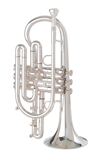 Getzen 800 Eterna - Silver Plated Medium Large Bore Cornet