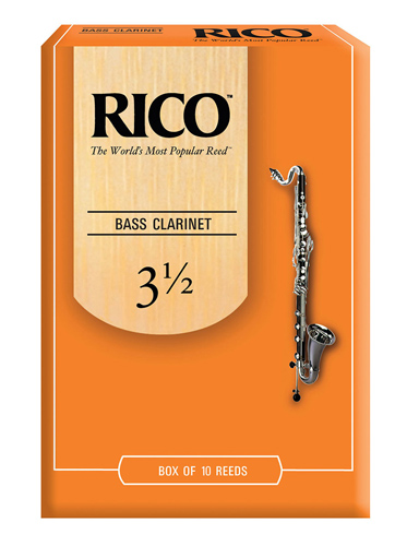 Rico Bass Clarinet Reed Box of 10 - Strength 3.5
